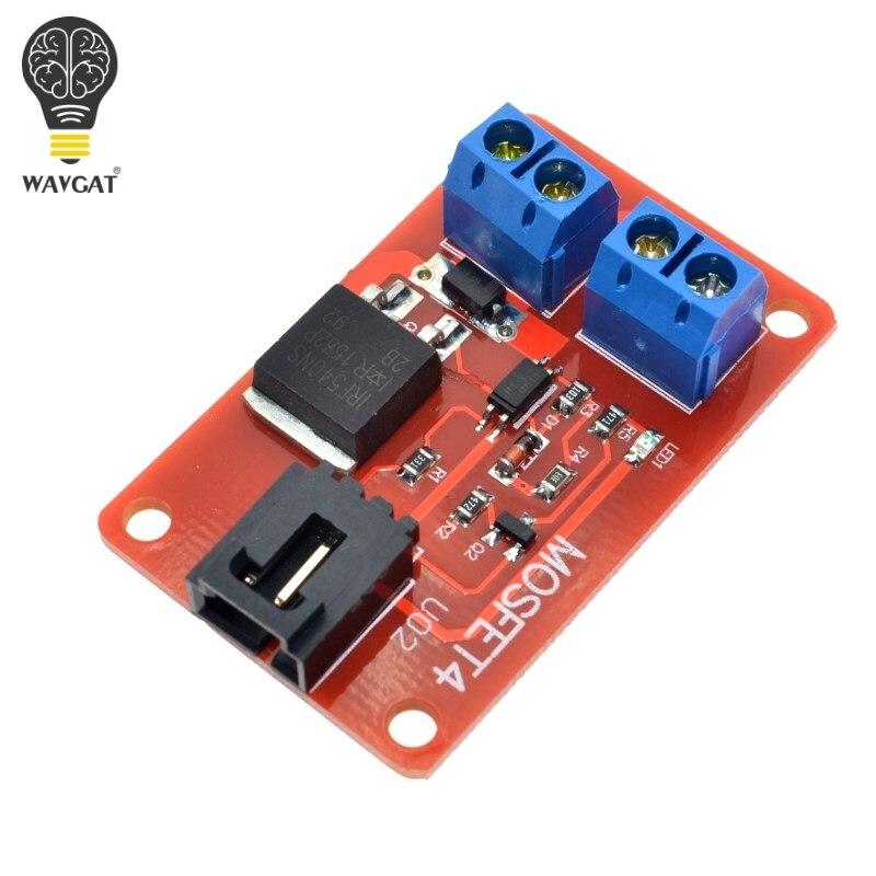 WAVGAT 1 canal 1 Route MOSFET bouton IRF540 + MOSFET Module de commutation pour Arduino.