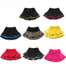 цены child Latin dance skirt layered dress Latin practice skirt ruffle dress with briefs JQ-074