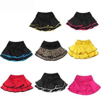 child Latin dance skirt layered dress Latin practice skirt ruffle dress with briefs JQ-074