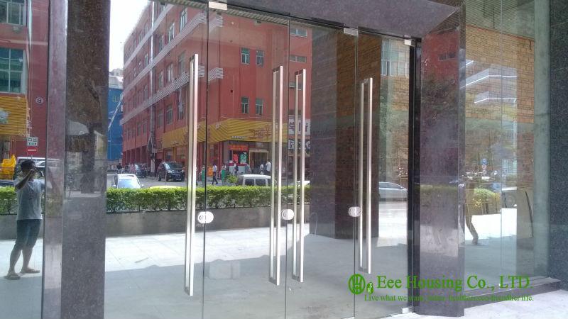 12mm Tempered Glass Commercial Frameless Glass Doors Manufacturer, Commercial Exterior Mordern Glass Door For Shopping Mall