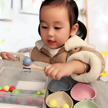 Multi-functional Baby Early Educational Toys Clip Beads Learning Wooden Toys Eating Grasping Ability Training цена и фото