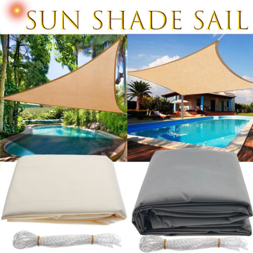 Outdoor Garden Cover Sun Shelter Triangle Sunshade Protection Patio Pool Sun Shade Sail Awning Camping Car Awning Waterproof New