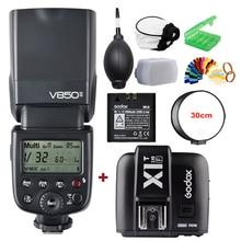 Godox VING V850II GN60 2.4G HSS 2000mAh Battery Camera Flash Speedlight +X1T-N Trigger Transmitter for Nikon DSLR Camera цена и фото