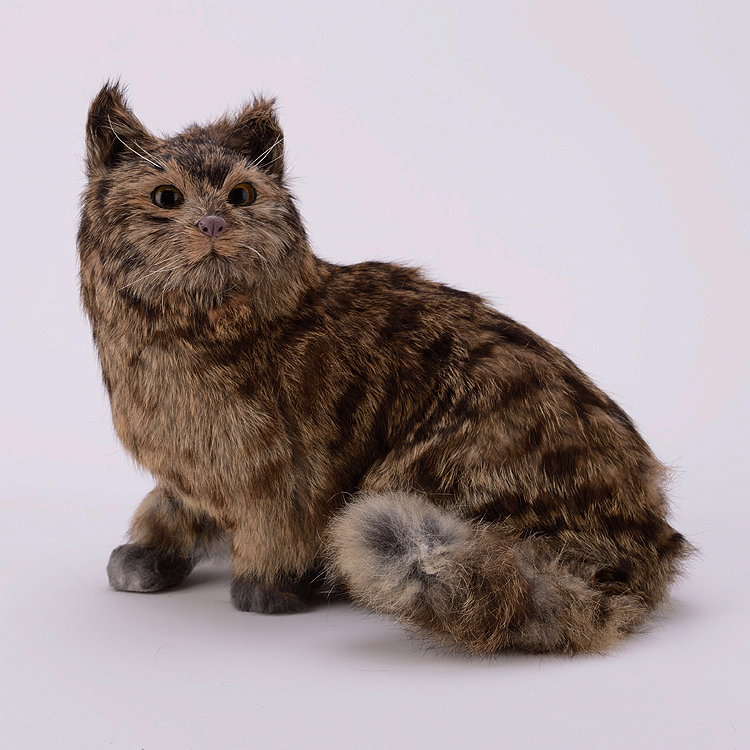 big simulation cat lifelike sitting cat doll gift about 35x28x26cm