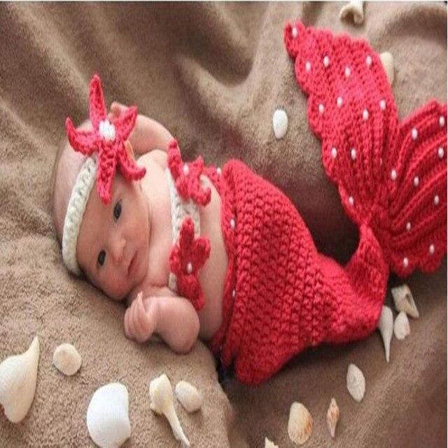 baby fotografie requisiten f r neugeborene m dchen gestrickte infant meerjungfrau schwanz mit. Black Bedroom Furniture Sets. Home Design Ideas