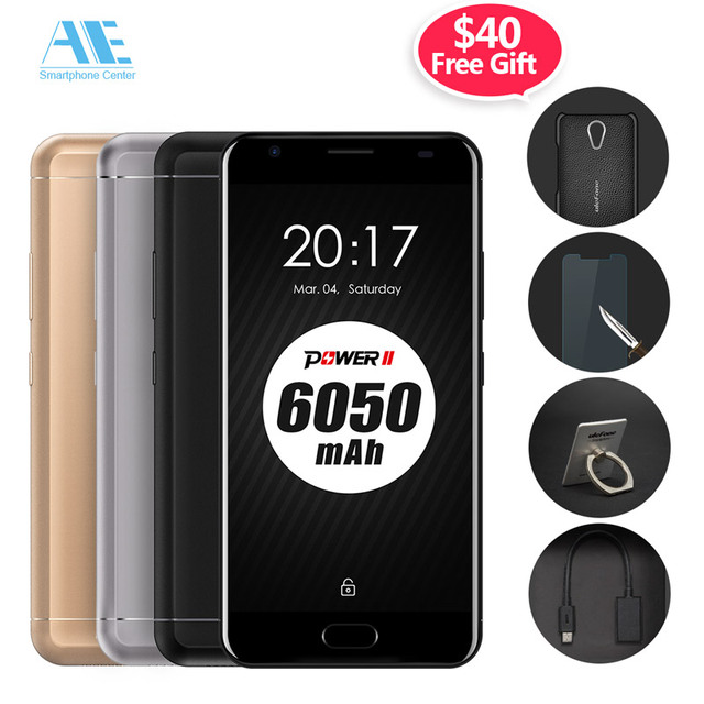 Ulefone Power 2 MT6750T Octa Core Cell Phone Android 7.0 5.5 Inch 4GB RAM 64GB ROM Smart Phone Touch ID OTG 4G LTE Mobile Phone