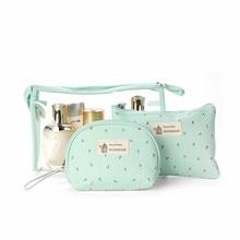 3pcs Multifunction Cosmetic Bag Storage Case Holder Zipper Portable Travel Make Up Storage Bag Organizer Cosmetics Container