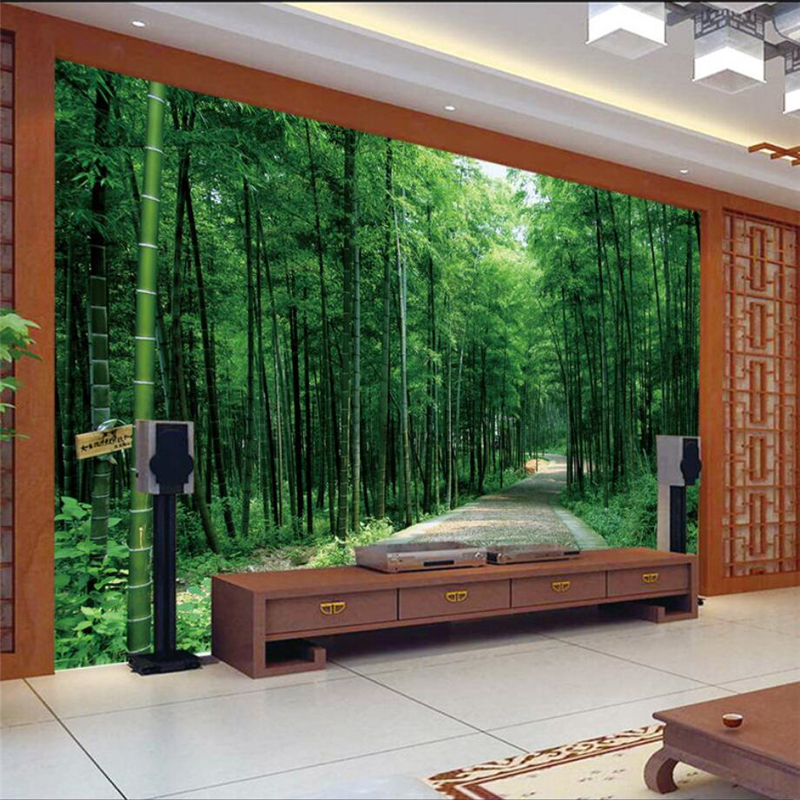 design of atmospheric living room tv background wall   beibehang Custom 3d wall paper aesthetic atmosphere bamboo ...