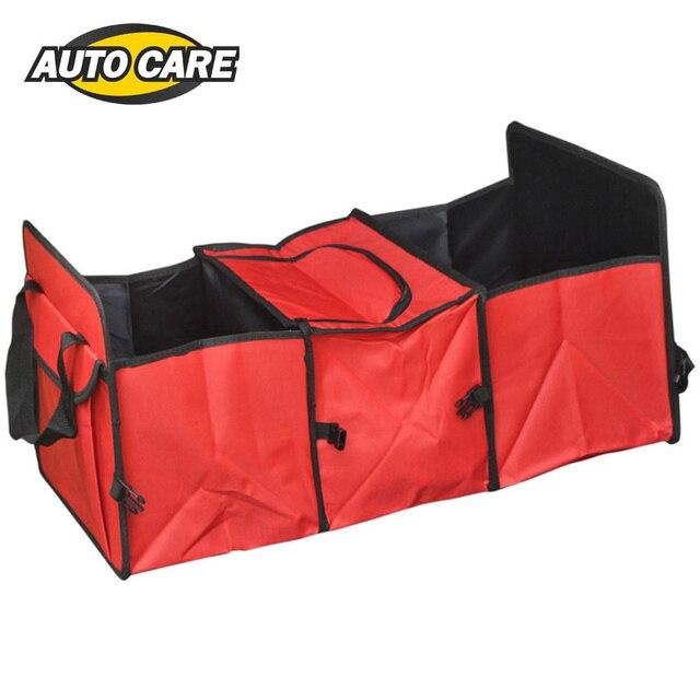 Car Trunk Storage Bag Oxford Cloth Foldable Truck Organizer Box Car Trunk Tidy Bag Organiser Storage Box with Cooling Bag