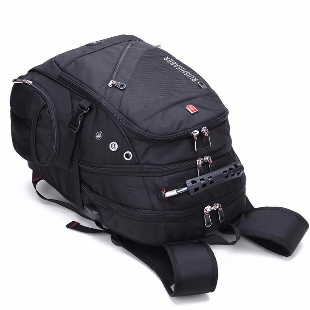 New Oxford Swiss Backpack USB charging 17 Inch Laptop Men Waterproof Travel Rucksack Female Vintage School Bag bagpack mochila