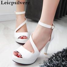 Женские сандалии с открытым носком пикантные туфли на высоком