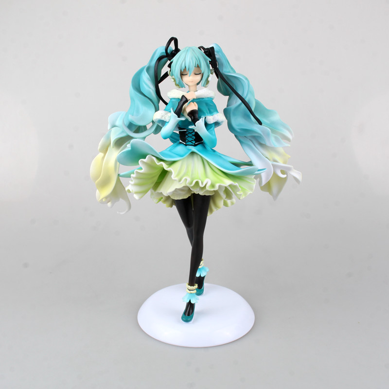Anime Doll Vocaloid Hatsune Miku Snow in Summer 1/7 Scale Pre-painted PVC Action Figure Model Toy 28cm anime one piece dracula mihawk model garage kit pvc action figure classic collection toy doll