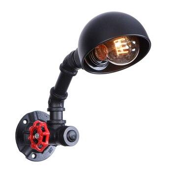ลอฟท์โคมไฟติดผนังเอดิสันอุตสาหกรรมโคมไฟติดผนังE27เหล็กวินเทจโคมไฟผนังท่อน้ำไฟบาร์คาเฟ่LED...