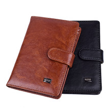 Porte-passeport de voyage en cuir pour hommes et femmes, pochette pour cartes et documents
