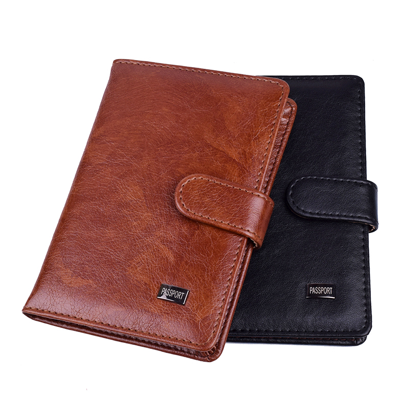 Women Travel Hasp Passport Holder Cover Leather Men Wallet Passports Organizer Card Credit Holder Case