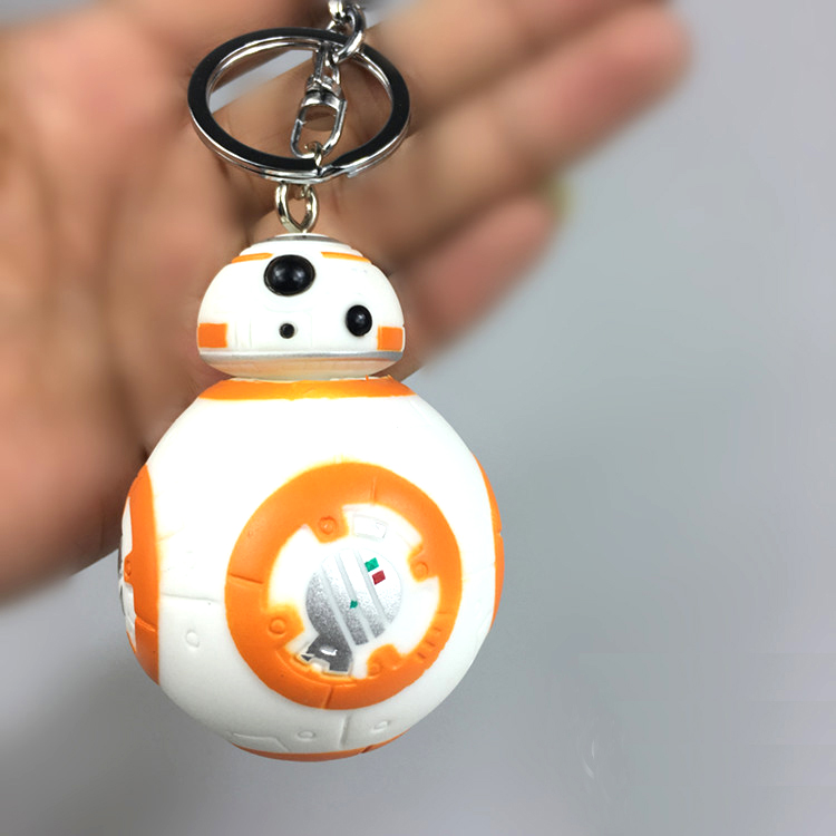 BB8 action figure model toys keychain BB-8 Robot toy Pendant kids toys figures Lightsaber