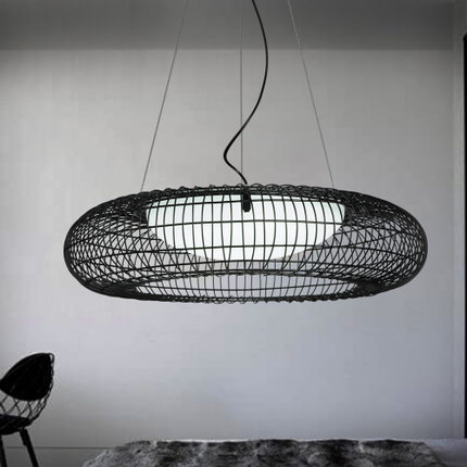 Creative Modern LED Pendant Lights Iron Birdcage Hanging Lamp Glass Simple Droplight Fixtures For Home Lighting Bar Dining Room modern tiffany glass led pendant lights lamp fixtures e27 220v for decor dinning room kitchen bar restaurant home lighting