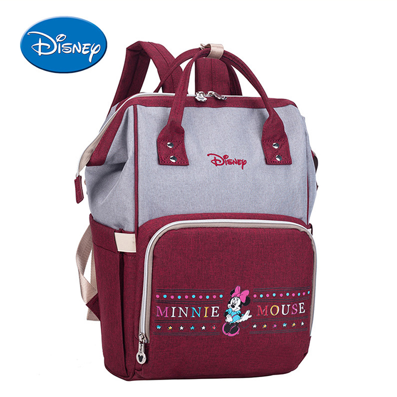 Disney Mickey Minnie Diaper Bags Stroller Handbag Travel Backpack Large Capacity Mummy Maternity Nappy Bag Baby Care in Diaper Bags from Mother Kids
