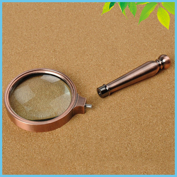 6X Antique Bronze Handle Magnifying Glass Lens Retro Style Gift Magnifier for Elderly Reading retro style decorative hourglass sandglass antique bronze