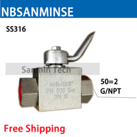 NBSANMINSE Stainless Steel High Pressure Ball Valve KHB with NPT G 2 Anti corrosion design Engineer Industry Application