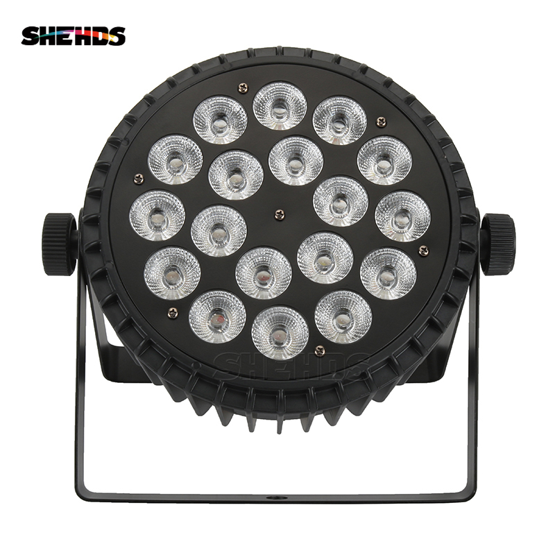 Aluminum Alloy LED Par 18x18W RGBWA UV Lights 6in1 Led Lighting DMX512 Disco Light Professional Stage