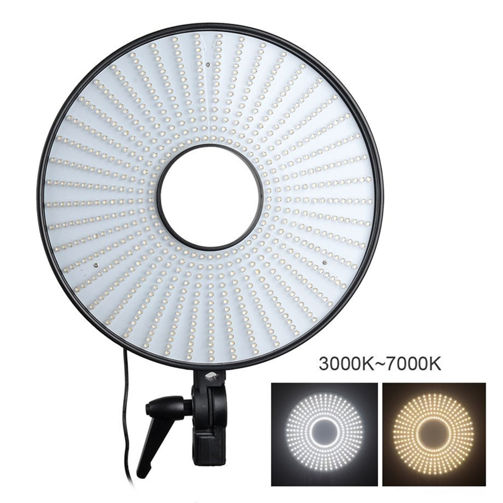 40W 620 LED Professional DVR 630DVC LED Ring Light Lamp Dimmable 3000K / 7000K Color Temperature Adjustable Led Video Light