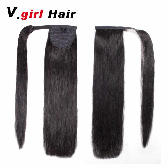 Vrl Hair Human Hair Ponytail 100g Clip In Human Hair Extensions