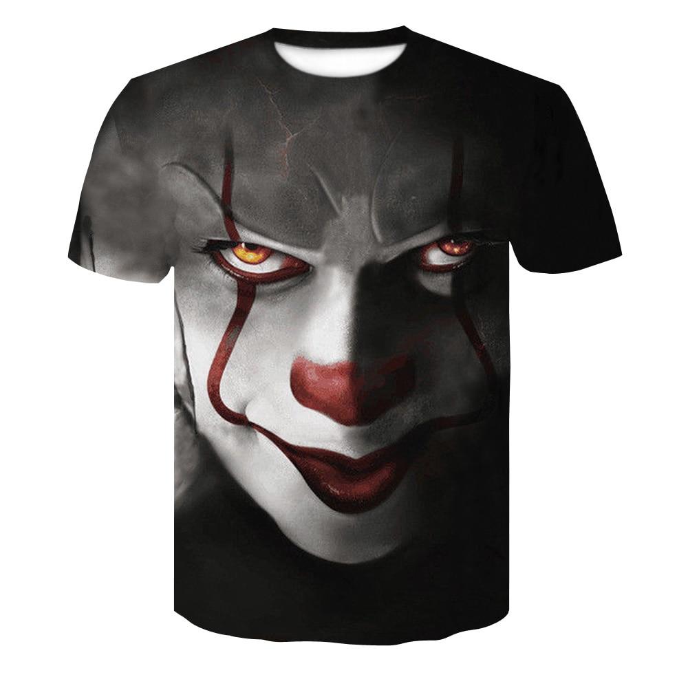 Fashion 2018 New Cool T-shirt Men/Women 3d Tshirt Print Suicide clown Short Sleeve Summer Tops Tees T shirt Male S-4XL