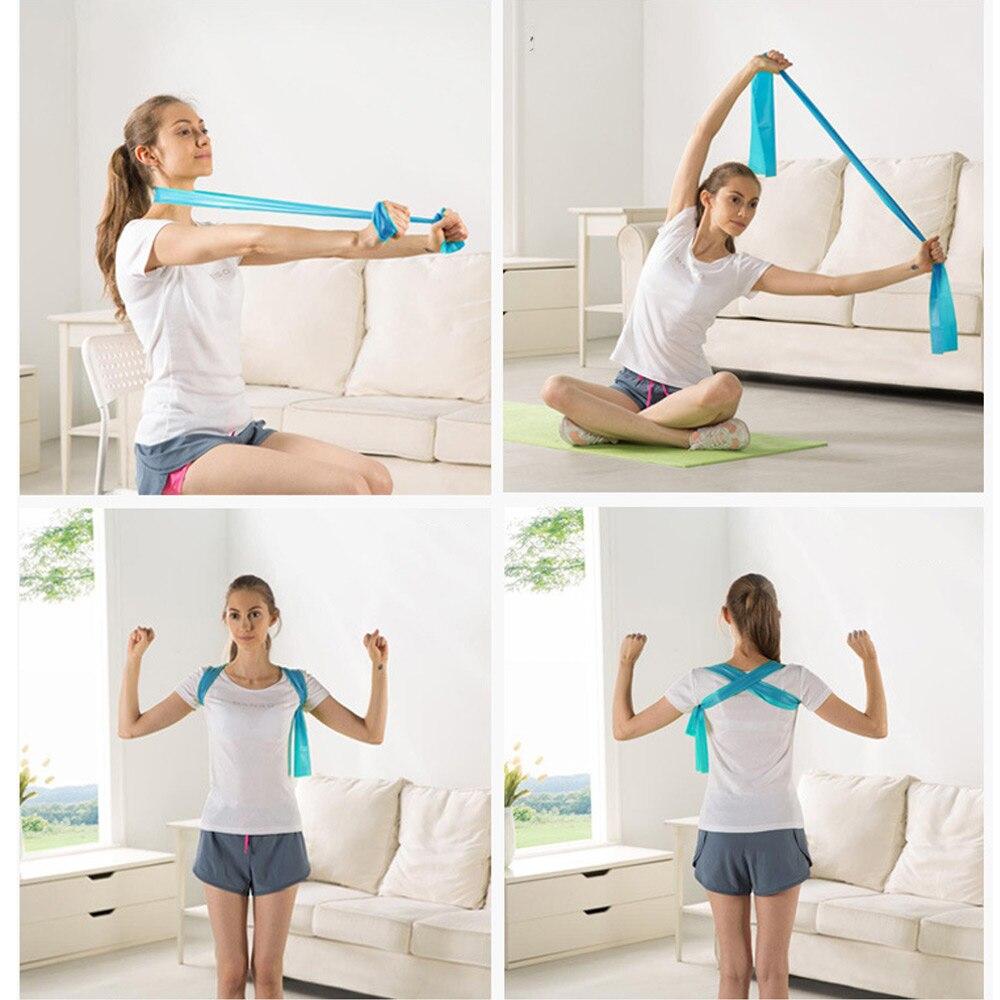 1.2m Elastic Yoga Pilates Rubber Stretch Exercise Band Arm Back Leg Fitness Workout Training Crossfit Rubber Fitness Band Strap Yoga Fitness & Body Building