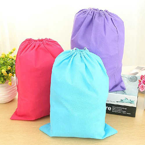 Laundry Shoe Travel Pouch Portable Tote Drawstring Storage Bag Organizer 9IVO