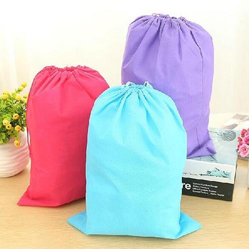 Laundry Shoe Travel Pouch Portable Tote Drawstring Storage Bag Organizer 9IVO