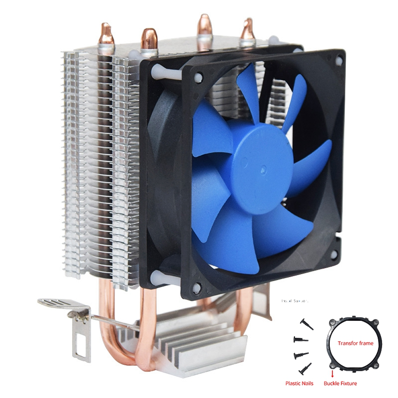 <font><b>80mm</b></font> <font><b>fan</b></font> CPU Cooler water cooling radiator copper heatsink PC cooling for the Processor i5 AM3+ AM4 computer tower cooler image