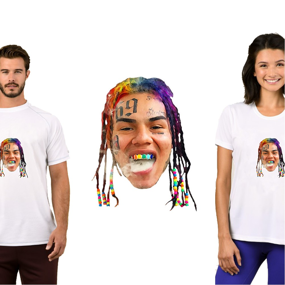 2019 6ix9ine T Shirt Fashion Multicolor Street Wear Top Plus Size T-Shirt Women/Men Casual Solid Tops Lady Fitness Tee Unisex