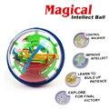 100 Passos 3D Magia Intelecto Bola Labirinto Para Crianças Equilíbrio Capacidade Lógica Ferramentas de Treinamento Jogo de Puzzle Brinquedos Educativos