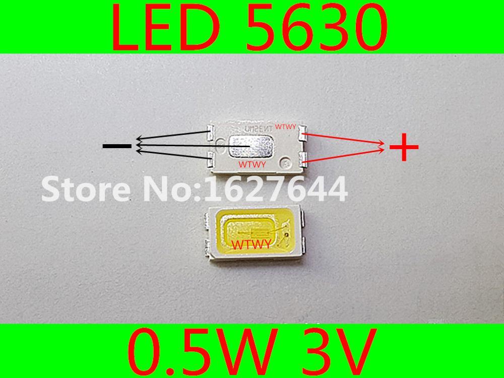 500pcs LED 5630 LED TV Backlight Cool white High Power 0 5W 3V LED Backlight For