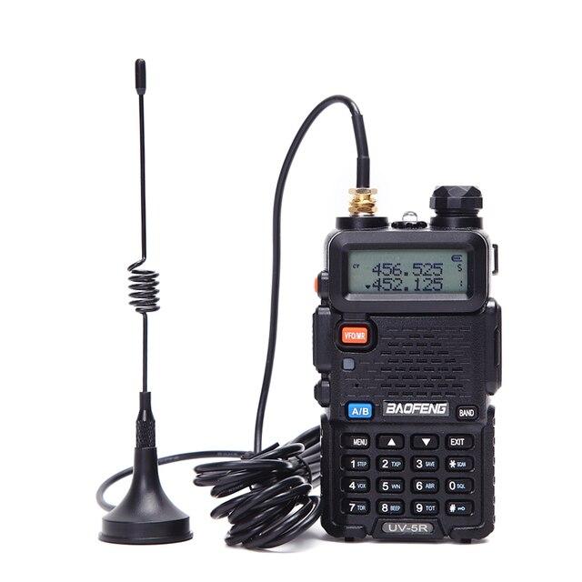 Portátil walkie talkie antena otário mini tipo SMA F porta para baofeng UV 5R UV 82 BF 888S walkie talkie rádio