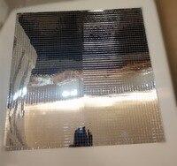 62 шт. из meya самоклеящиеся серебро реального Стекло зеркало корабль плитка, цветной мини площади Зеркала мозаика Плитки 30x30 см