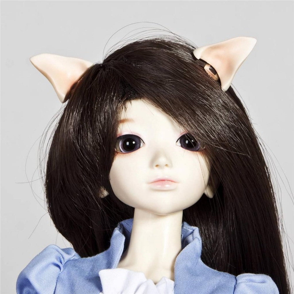 [wamami] 785# OOAK Pink Ear Horn Magnetic 1/4 MSD &1/6 SD Dollfie Accessories For AOD BJD