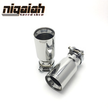 free shipping 2PCS Brand New Car SUS304 Stainless Exhaust End Tail Tips 2.5 in, 3.5 out for BMW