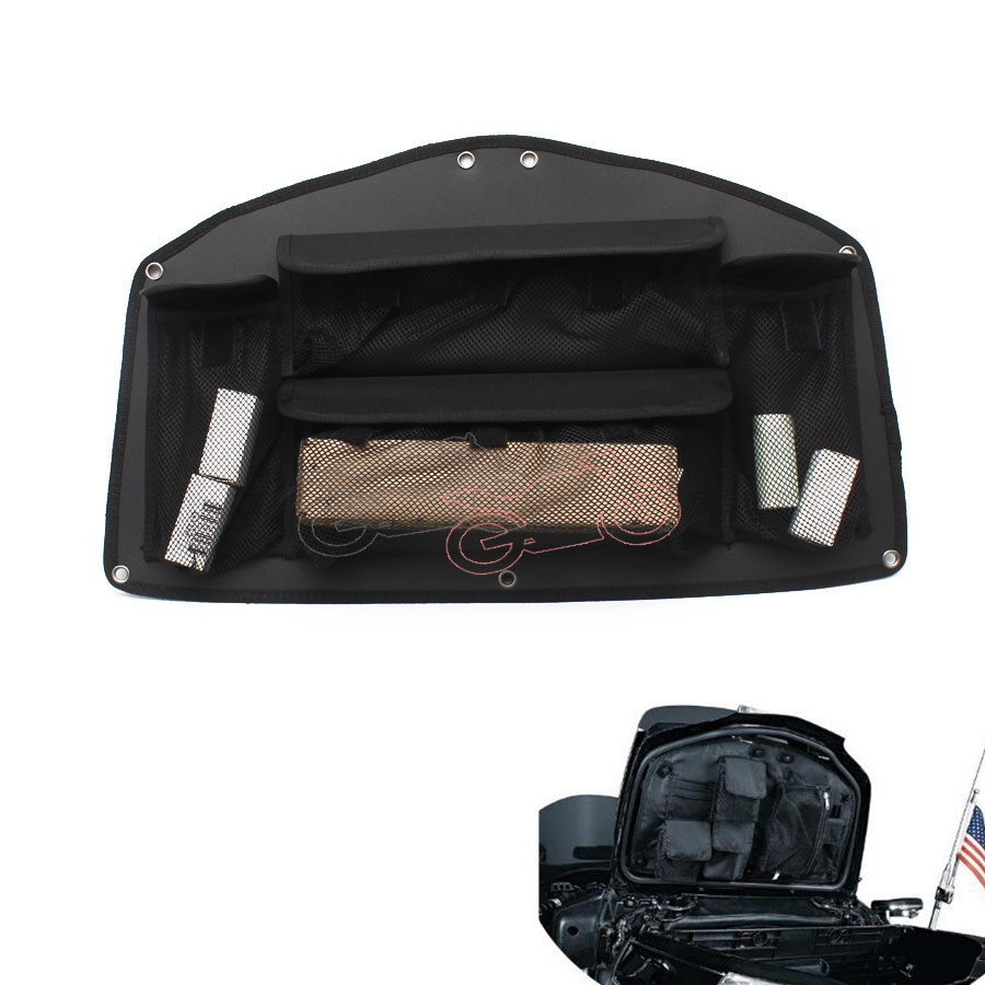 1pcs Black Motorcycle Trunk Lid Organizer Bag Tool Bags Case for <font><b>HONDA</b></font> <font><b>GOLD</b></font> <font><b>WING</b></font> GL1800 Goldwing <font><b>GL</b></font> <font><b>1800</b></font> 2001-2014 image