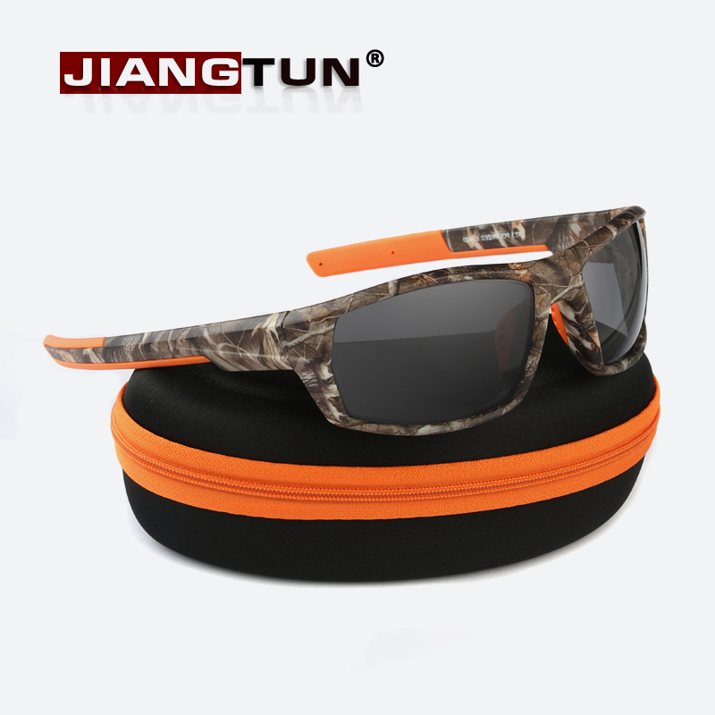 JIANGTUN Hot Trendy Camo Black Polarized Sunglasses Men Women Brand Designer Sports Sun Glasses UV400 Driving