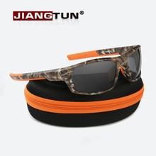 JIANGTUN Hot Trendy Camo Black Polarized Sunglasses Men Women Brand Designer Sports Sun Glasses UV400 Driving Gafas