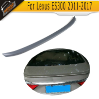 Grey PU auto car rear trunk spoiler rear spoiler for Lexus ES300 2011 2017 car rear spoiler wing