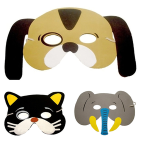 Image 5 - 12Pcs/Set New Arrival Mask Birthday Party Supplies EVA  Animal Masks Cartoon Kids Party Dress Up  Zoo Jungle Mask Party Supplies