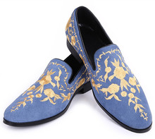 2016 Men Casual Shoes 100%Real Pic Embroidery Men's Flats Slip-on Dress Oxford Shoes For Party Men Big Size 46 Moccasins