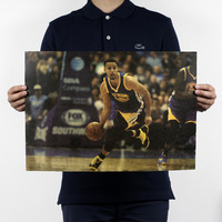 Stephen Curry/Warriors basketball super star/kraft paper/Cafe/bar poster/Retro Poster/decorative painting 51x35.5cm