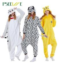 Kigurumi dorosła zimowa piżama w zwierzątka różowa jednorożec zestawy kobiety mężczyźni Unisex flanelowa panda Nightie Stitch unicornio bielizna nocna