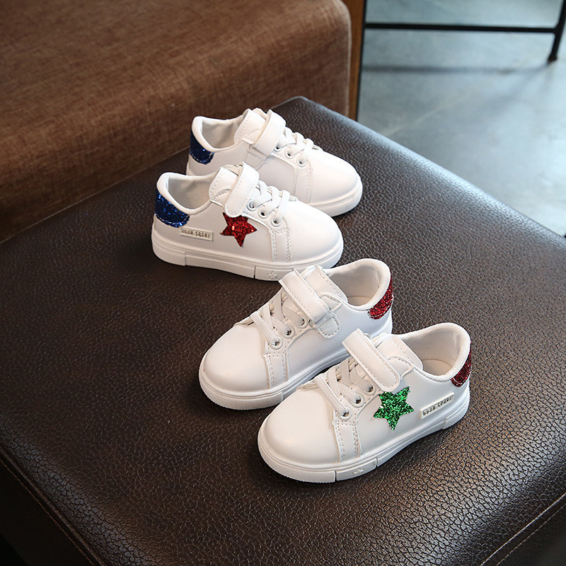Toddler first walkers fashion solid color stars footwear Lovey breathable boys girls sneakers Cool baby kids shoes free shipping