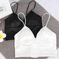 94f9d53eb7  La MaxPa  Bralette Crop Top Summer Top Sale Black White Sexy Pink Strappy  Suede