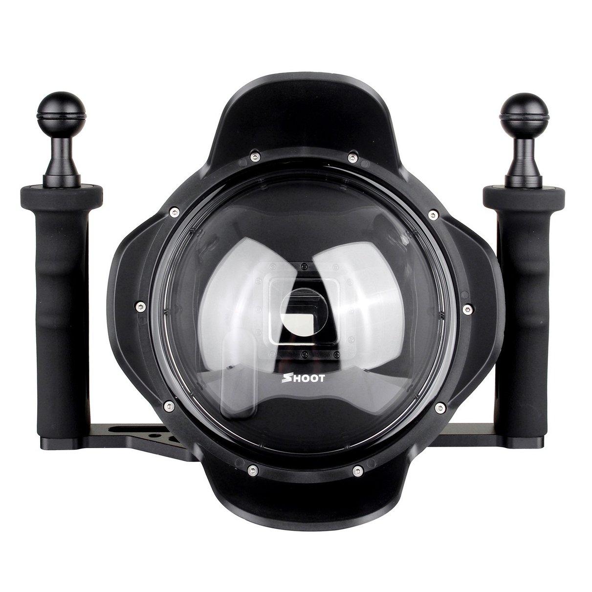 Shoot pro 3.0 versione 6 ''inch immersione stabilizzatore palmare lente cappuccio di obiettivo cupola cupola porta per la macchina fotografica gopro hero 3 + 4